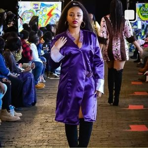 Purple Pride wrap dress